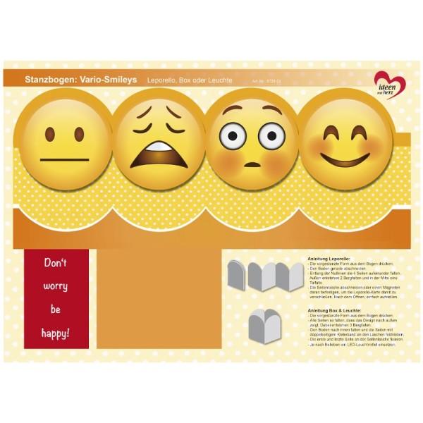 Stanzbogen, Vario-Smileys, DIN A4, Design 1