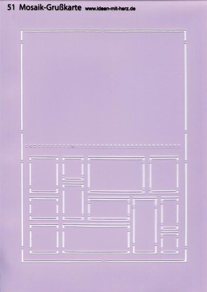 """Design-Schablone Nr. 51 """"Mosaik-Grußkarte"""", DIN A4"""