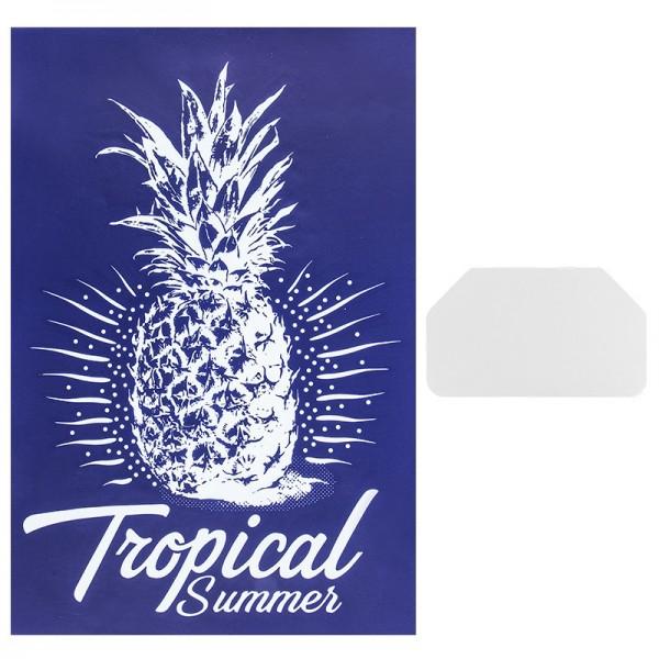 Siebdruckschablone Ananas, 32,5cm x 22,5cm, selbstklebend, inkl. Rakel