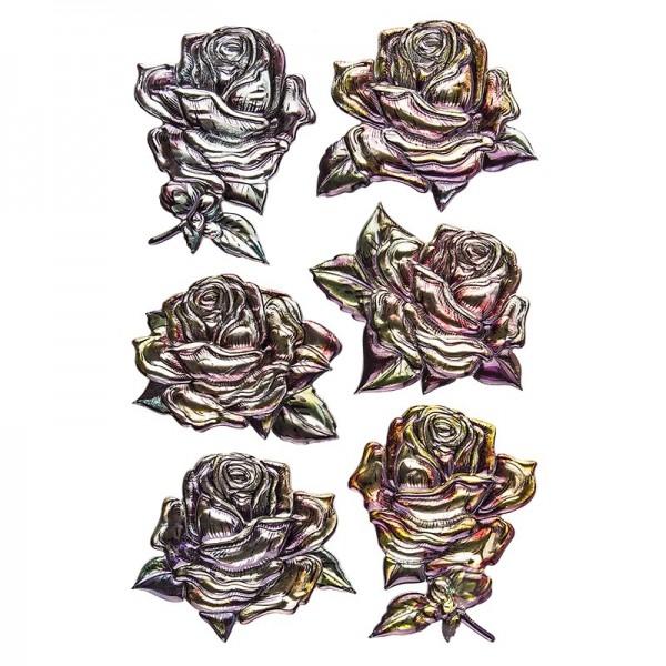 Relief-Sticker Nostalgie, Rosen, 15,5cm x 10,5cm