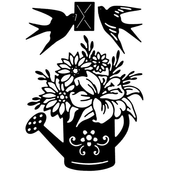 Stanzschablonen, Frühlingspost, 3 Stück
