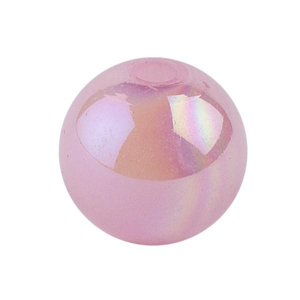 Perlen, irisierend, Ø 10mm, rosa-irisierend, 50 Stk.