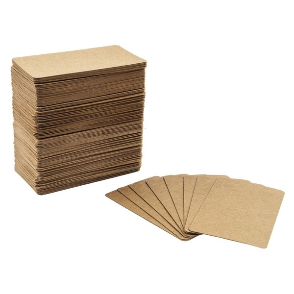 Tischkarten, Kraftpapier, 9cm x 5,3cm, 300 g/m², 200 Stück