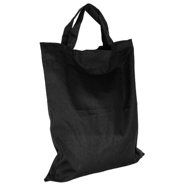Baumwolltasche, 28cm x 32cm, kurze Henkel, schwarz