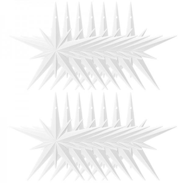 Winter-Deko, Rohling, Stern 2, Ø 11cm, weiß, 14 Stück