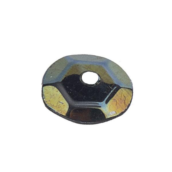 Pailletten, irisierend, 15g, Ø 6mm, schwarz