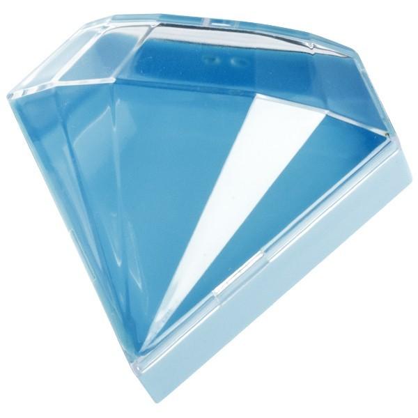 Acryl-Dose, Diamant, 8 x 7 x 2 cm, blau