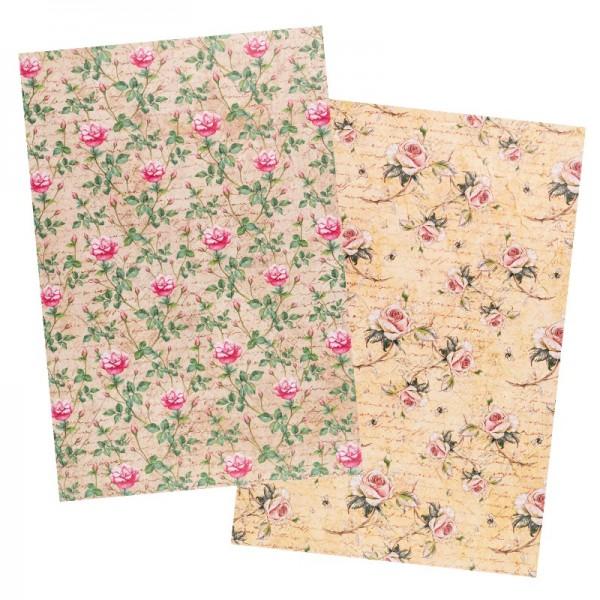 Reispapiere, Blüten 29, DIN A4, 30g/m², 2 Designs