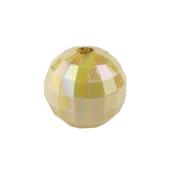 Perlen, facettiert, Ø 8mm, hellgold-irisierend, 100 Stk.