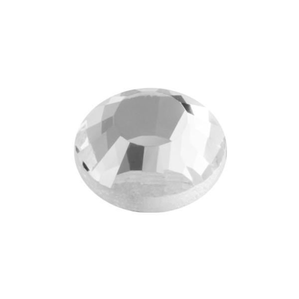 Hot-Fix Glas-Kristalle zum Aufbügeln, Ø7mm, 100 Stk., transparent