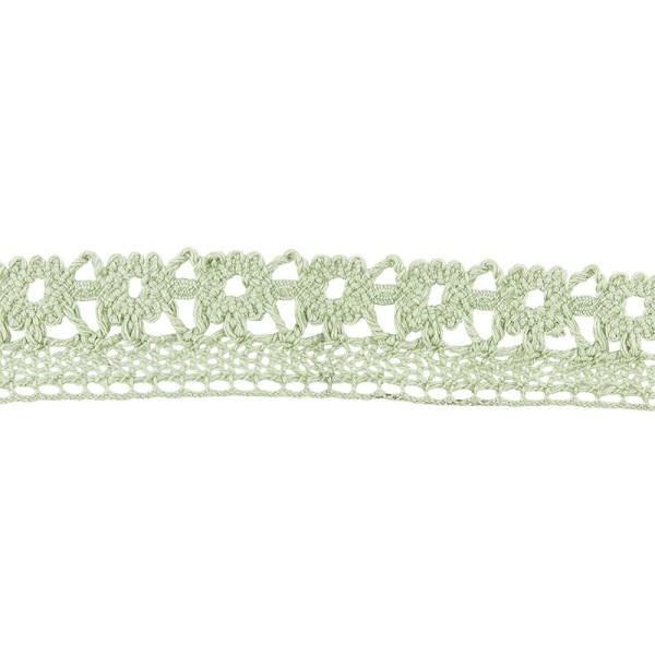 Häkelspitze Design 7, 2cm breit, 2m lang, grün