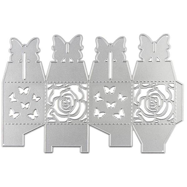 Stanzschablone, Faltbox 2, 16,3cm x 11cm, passend für gängige Stanzmaschinen
