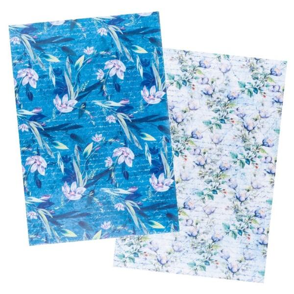 Reispapiere, Blüten 10, DIN A4, 30g/m², 2 verschiedene Designs