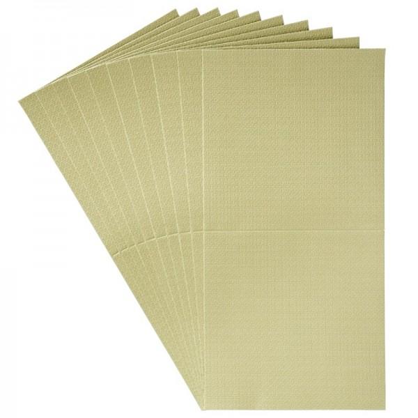 10er Grußkarten-Set, Flecht-Optik, 16x16cm, inkl.Umschläge, grün