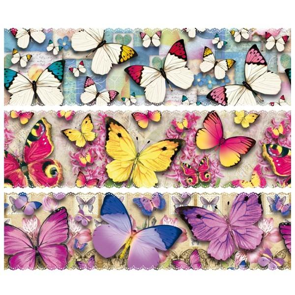 """Zauberfolien """"Schmetterlinge"""", Schrumpffolie für Ø10cm, 9 cm hoch, 6 Stück"""