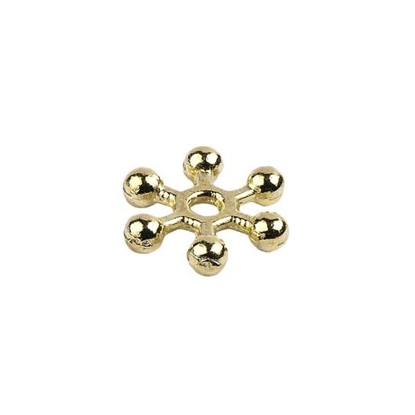Perlenräder, Ø 1 cm, hellgold, 150 Stück