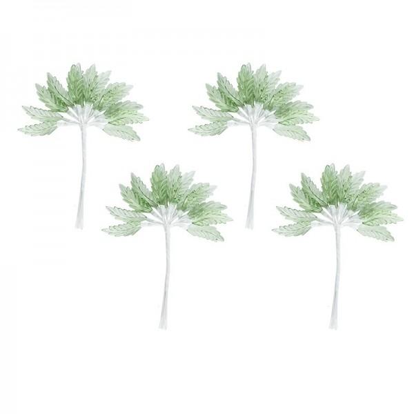 Acryl-Blätter auf Draht-Stiel, 14 cm lang, Design 1, 50 Stück