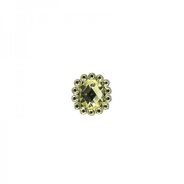 Ornament-Glitzersteine, 50 Stück, Design 9, lindgrün