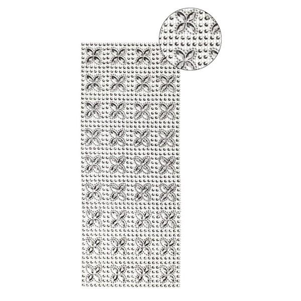 Schmuck-Netz, selbstklebend, 12 x 30 cm, silber, Design 14
