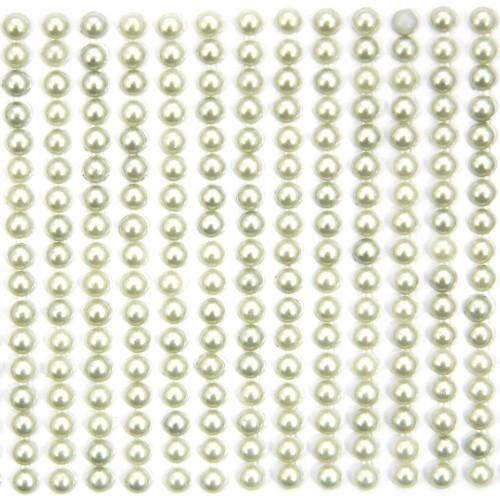 Halbperlen-Bordüren, selbstklebend, Ø5mm, 9cm, hellgrün, 41Stk