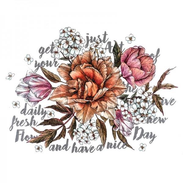 Color Bügeltransfer, Glitzer, DIN A4, Blumen 8