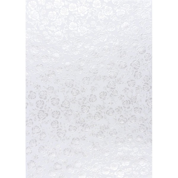 Transparentpapiere, Nova Noblesse 7, mit Top-Prägung & Perlmuttlack, DIN A4, 5 Bogen, weiß