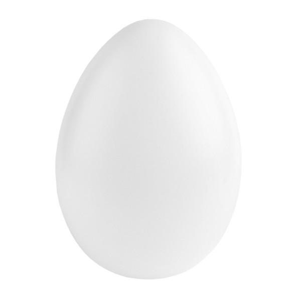 Deko-Ei aus Kunststoff, mit runder Öffnung, Ø12cm, weiß