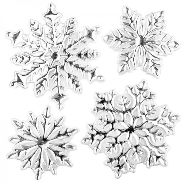 Relief-Sticker in Metallic-Optik, Eiskristalle 1, 18cm x 17,5cm