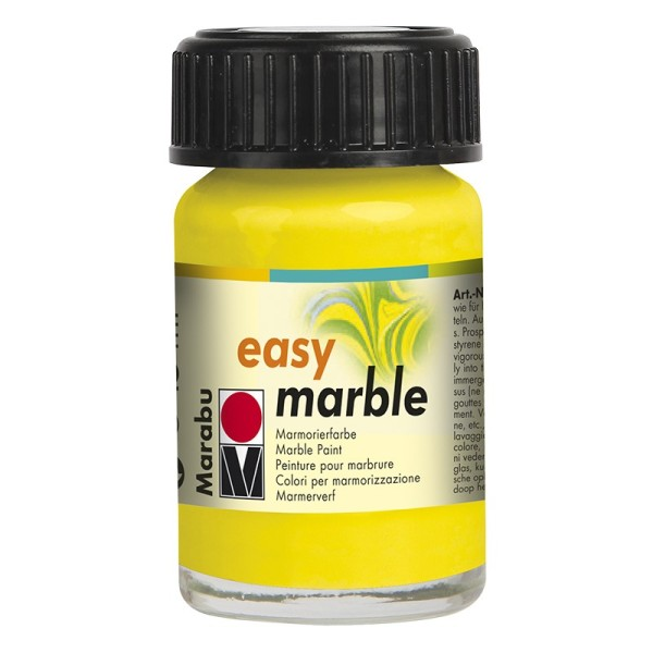 Marmorierfarbe, Marabu easy marble, 15 ml, zitrone