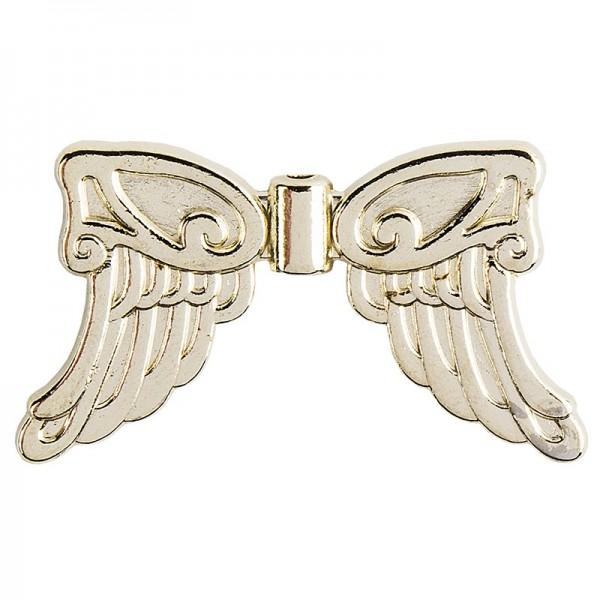 Engelsflügel, Design 5, 3,7cm, hellgold, 10 Stück