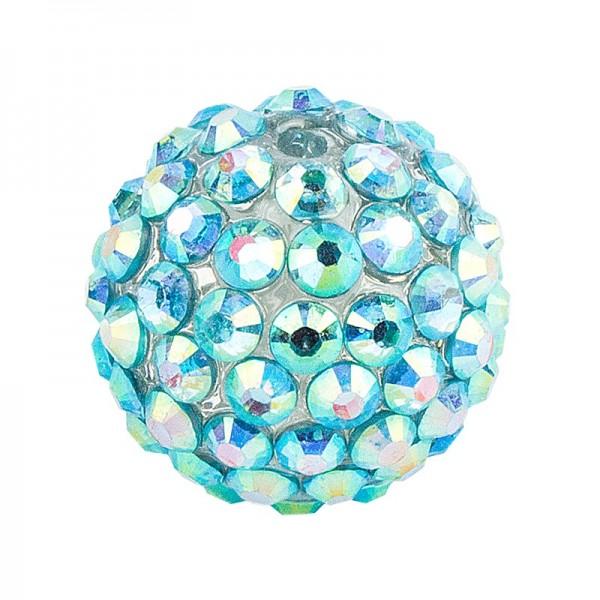 Kristall-Perlen, Ø 10mm, mint-irisierend, 10 Stück