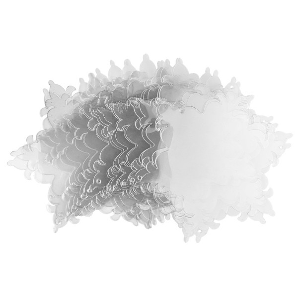 Windradfolien-Scheiben, Eiskristall 2, 16cm x 13,9cm, transparent, 500µ, 20 Stück