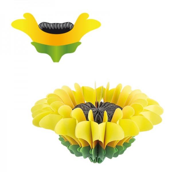 Waben-Stanzteile, Sonnenblume, 11cm x 6cm, 100 Stück