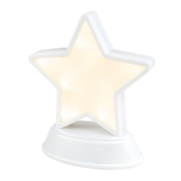 LED-Relaxleuchte, Stern, perlmutt-weiß, Höhe 16cm, 13 LEDs, warmweiß
