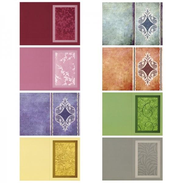Motiv-Doppelgrußkarten, gemischt, B6, 8 Stück