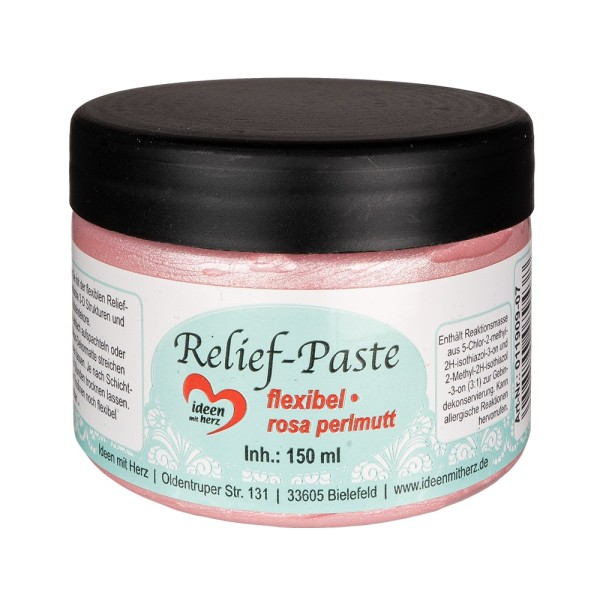 Relief-Paste, flexibel, rosa-perlmutt, 150ml