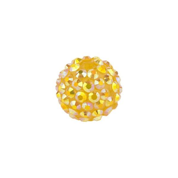 Kristall-Perlen, Ø10 mm, 10 Stück, gold-irisierend