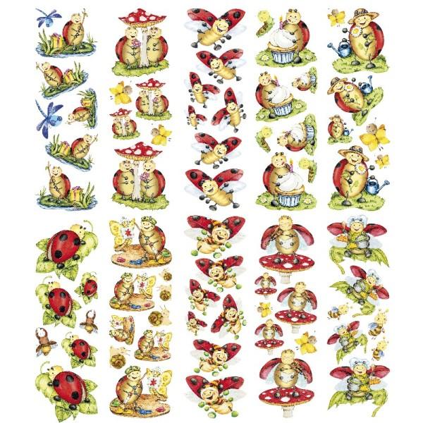 Transparent-Sticker, Lucky Lo, 10cm x 30cm, 10 Bogen