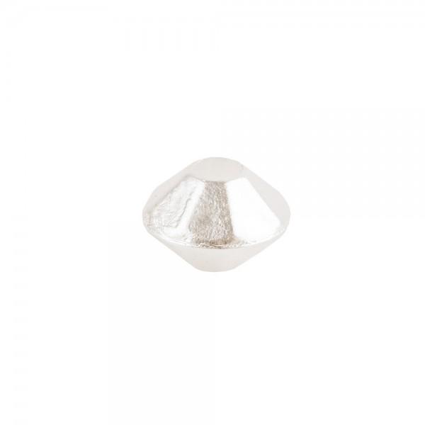 Perlen, Raute, facettiert, 0,6cm x 0,4cm, perlmutt-weiß, 1300 Stück