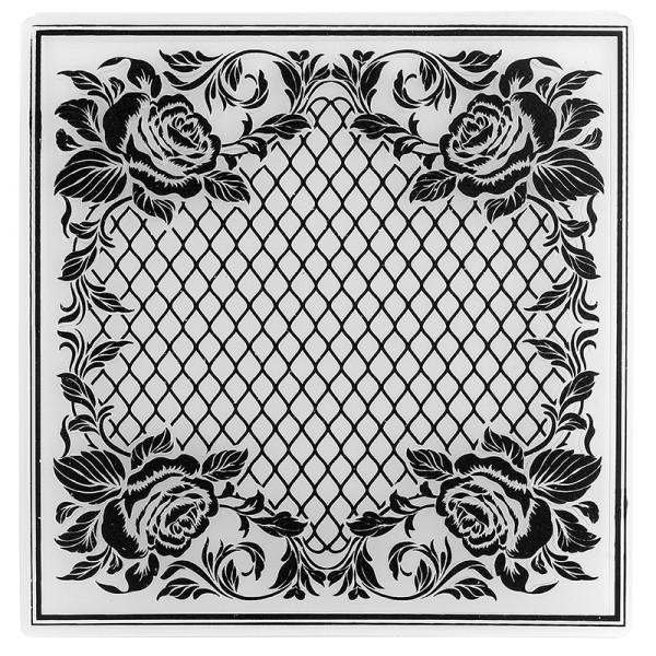 Prägeschablone, Ornamentik 10, 14,5cm x 14,5cm