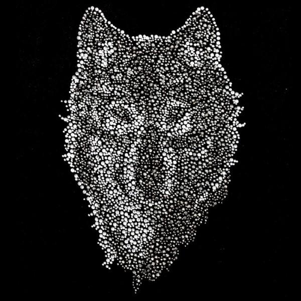 Bügelstrass-Design, DIN A4, mehrfarbig, Wolf