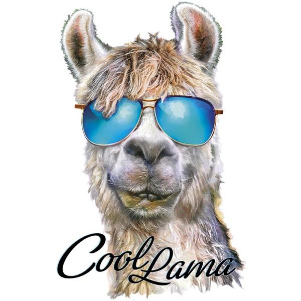 Color Bügeltransfers, DIN A4, Cool Lama