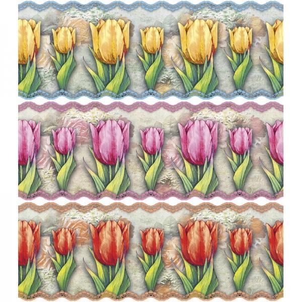"""Zauberfolien """"Nostalgie-Tulpen"""", Schrumpffolien für Eier mit 6cm x 4,5cm, 5,5cm hoch, 6 Stück"""