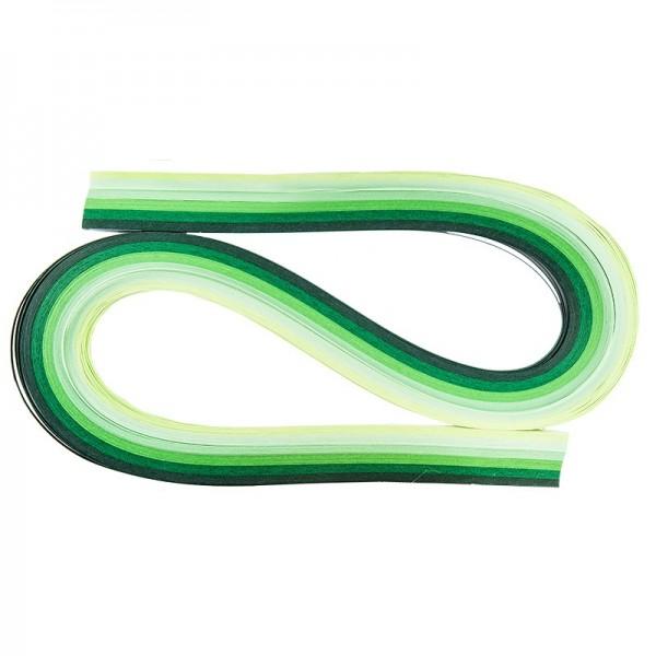 Quilling-Papierstreifen, 54cm lang, 3mm breit, Grüntöne, 120 Stück