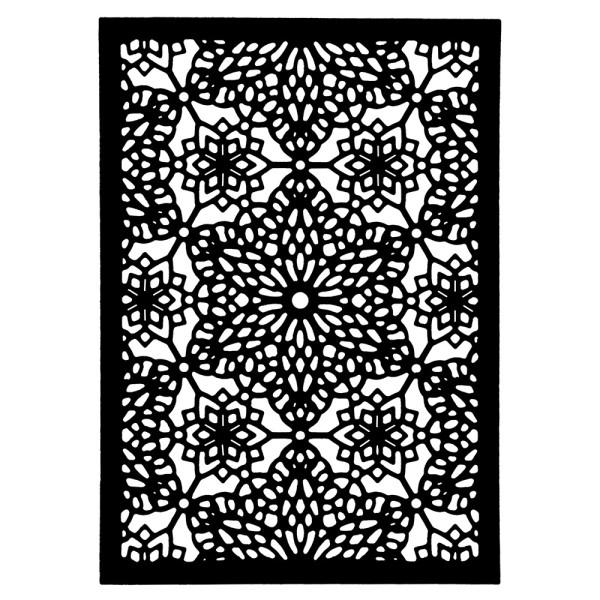 Stanzschablone, Kartenaufleger Kristallsterne, 13cm x 9,2cm