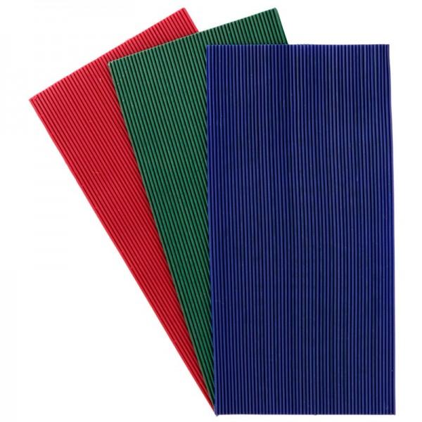 Wachs-Schnüre, 150 Stk. rot, grün & blau