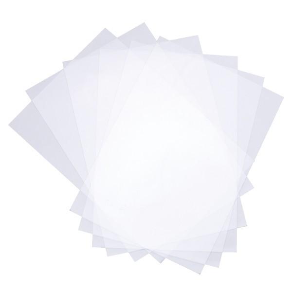 Transparente Windradfolie, nichtklebend, A5, 200 µ, 10 Folien