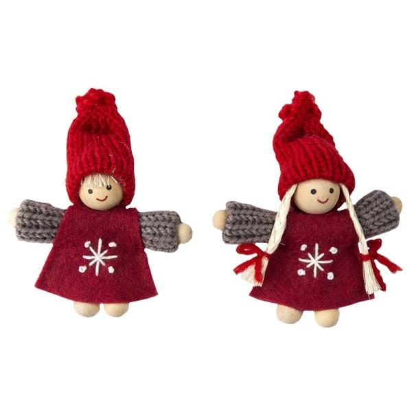 """Winter-Püppchen, Design 6 """"Lilia"""", 8,5cm hoch, 2 Stück"""