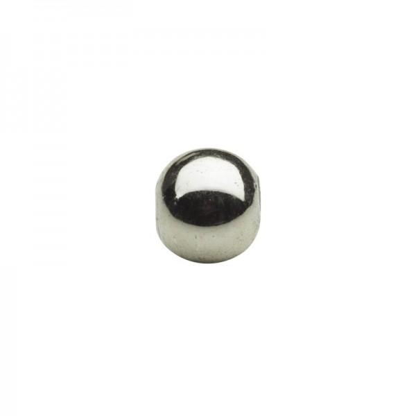 Metallic-Perlen, Ø6 mm, 50 Stück, anthrazit