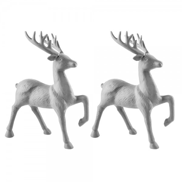 Deko-Hirsche 1, Rohlinge, 23cm x 14cm x 4,5cm, 2 Stück